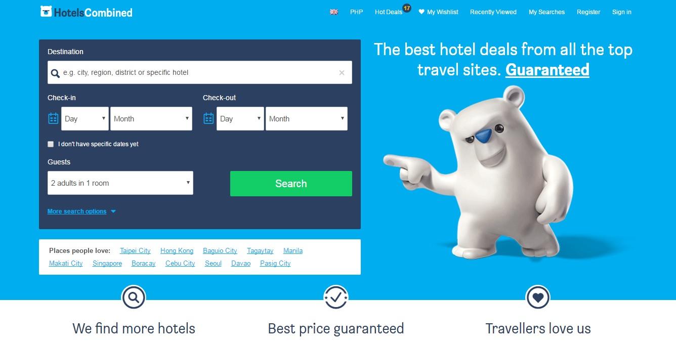ホテルズコンバインド(HotelsCombined)でホテルの料金の比較・予約
